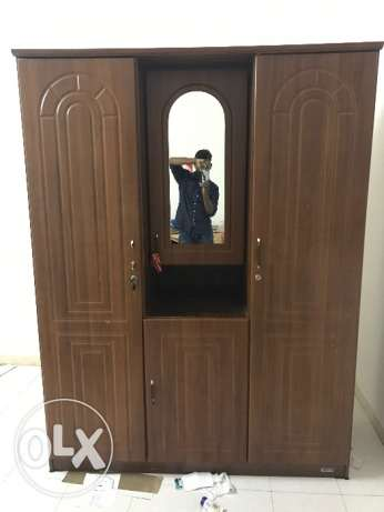 cabinet for urgent sale 3 door with mirror