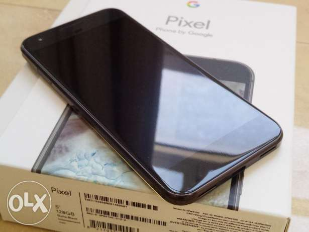 Google Pixel 128GB black with clear coat مسقط -  1