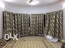 sale of 8 separate curtains and sofa 4 +1 for sale