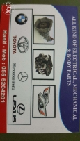 Used spare parts for all cars