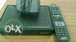 Dish tv receiver with remote