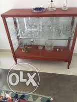 glass & wood cabinet