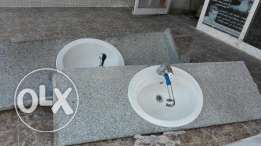Used basin with granite top