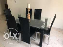 Dining Set with 6 chairs almost new