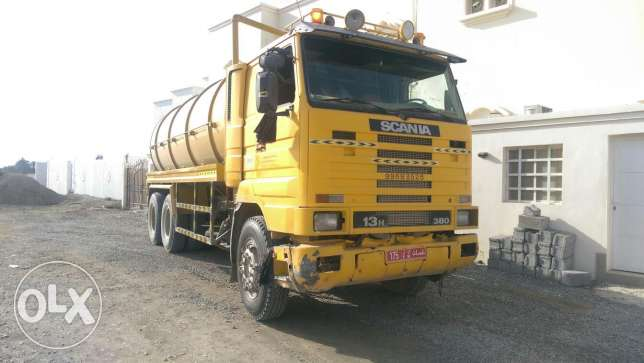 Sewage tanker. Scania 113 For sale.1995 Model