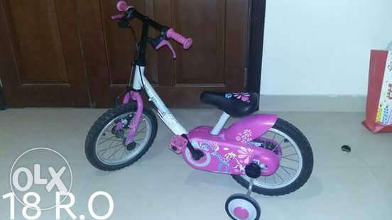 Pinky girl bike