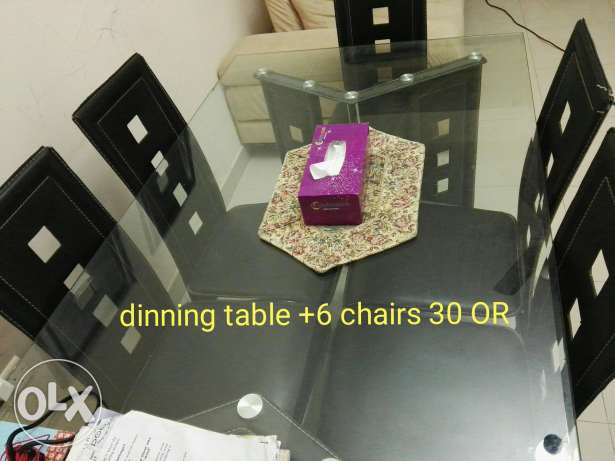 Sofa, dinning table, TV stand