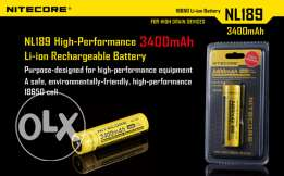 18650 Nitecore NL189 Battery Rechargeable Battery 3400mAh