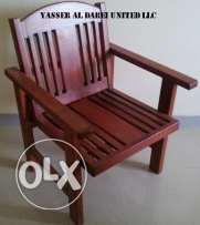 Wooden Couch Single Seater
