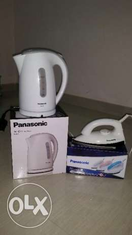 Panasonic water kettle and dry iron (Excellent condition) combo offer
