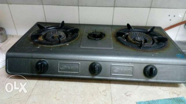 Gas stove and cylender
