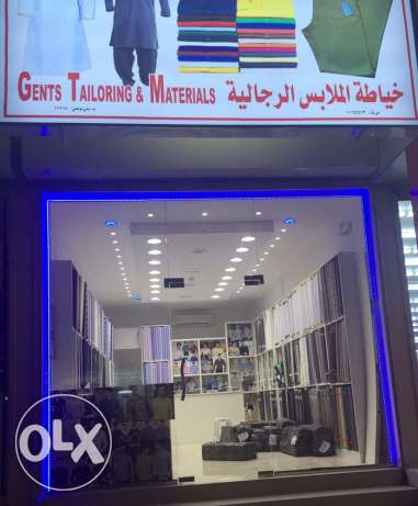 Popular tailoring and material shop for sale