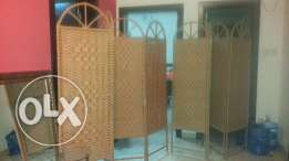 Bamboo partitions