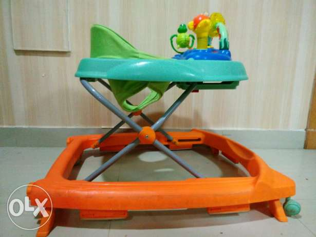 Baby carrier, travel bed and walker for sale