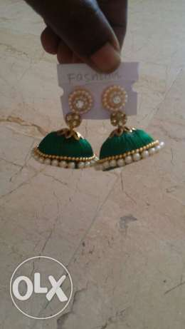 Ear rings and bangles silk thread روي -  3