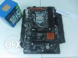 معالج مع لوحة PC CPU with MB : I5 6600 + ASRock H170A