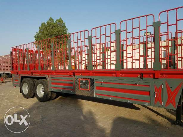 new heavy duty bogie trailers with jaali and guarantee of bed