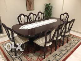 8 seater Dining table with chairs for sale