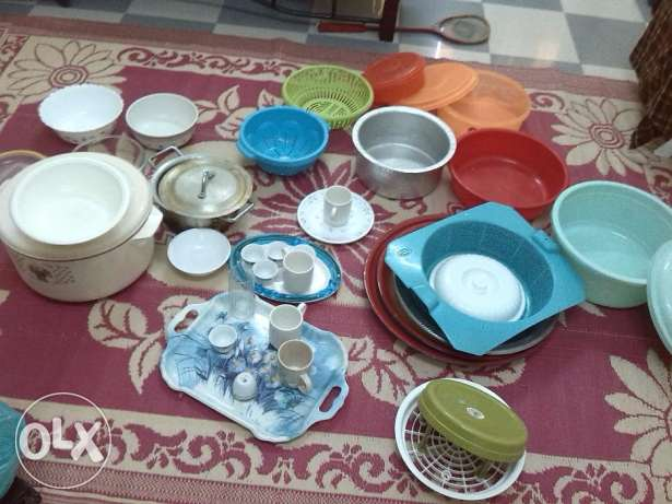 used crockery fro sale, very cheap مطرح -  1
