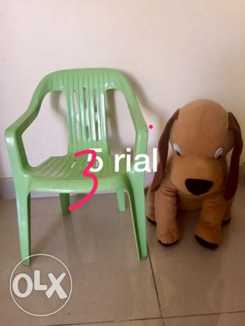 soft toy and chair