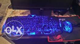 Gaming keyboard, mouse and mouse pad