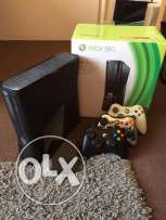 Xbox 360 with 3 controllers and extra 320gb hard drive