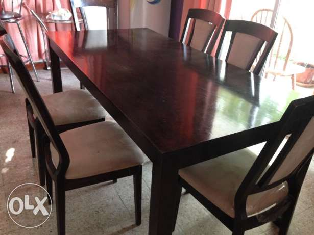 Dining table with 6 chairs القرم -  2