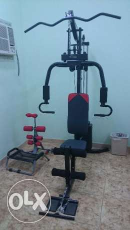 home gym unit+slimmer(abs work out)+wall mounted pullup bar