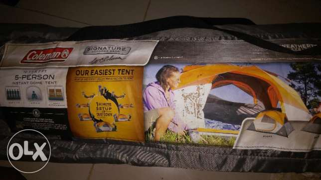 Coleman Instant 5 Person Tent with air mattress,rechargable pump مسقط -  1