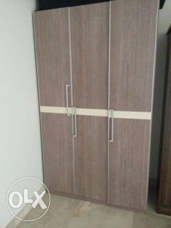3-door closet -light beige مسقط -  1