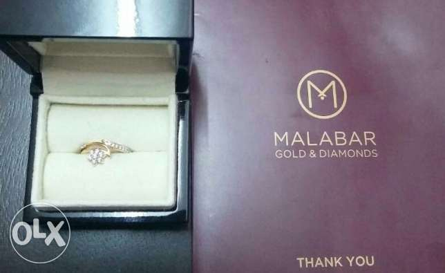 New Diamond Ring, from Malabar Gold bought for OMR 200.