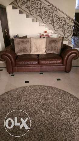 Leather Sofa 3 seated +1.5 armchair