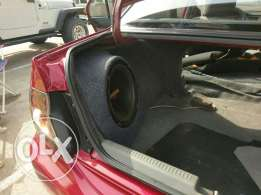 Fibreglass enclosure and subwoofer for sale