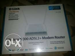 D-Link Wireless N 300 ADSL2 Modem Router + High speed HDMI Cable AWM