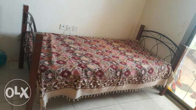 Bed single with mattress