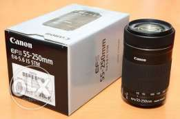 CANON 55 250MM Brand new lens image stabilizer-- with warranty