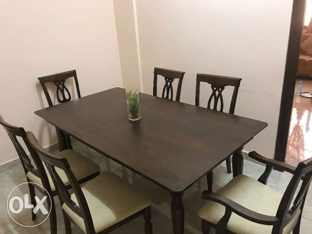 CENTER POINT 6 table wood dining set in excellent condition for sale