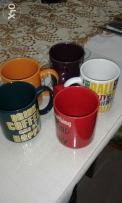 mugs 5pcs  to sell together for 2 rials only pick up bousher