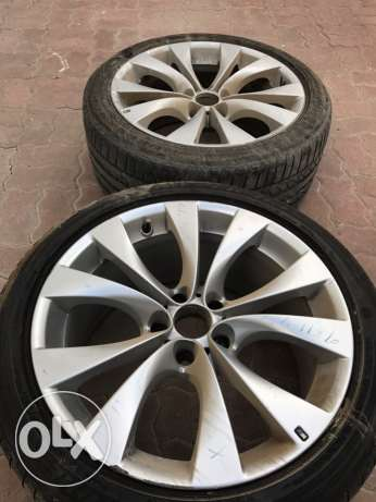 Chance .. For sale 2 rims with tire for BMW X5