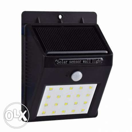 20 LED Outdoor Solar Powered Lights Motion Sensor Lamp السيب -  1