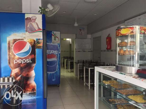 Well-designed operative fast food & coffee shop for sale in Wadi Kabir