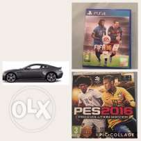 new cd pes 16and fifa 16 not used sale 12 rail