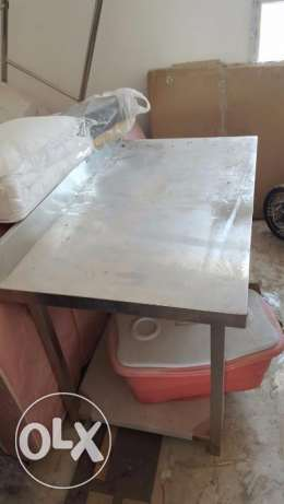 Brand new aluminum table and sink