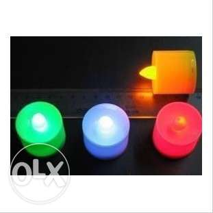 led candles with FREE battery-colour changing مسقط -  6