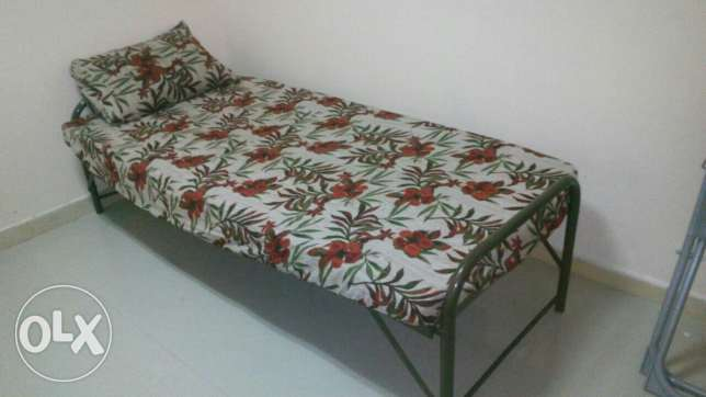 Steel bed and mattress