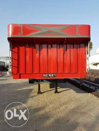new heavy duty flat bed trailers without side grill with warranty