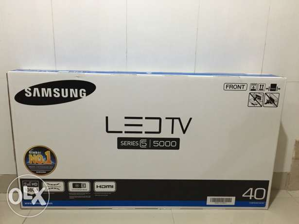samsung tv box. samsung 40 inch led series 5 5000 full hd tv box pice got gifted. muscat tv