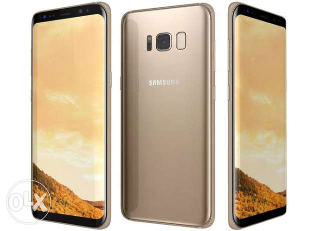 samsung s8 dualsim gold with clear coat for sale
