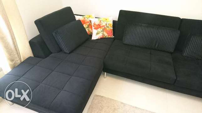 Sofa L-shape, very nice condition with cushion مسقط -  2