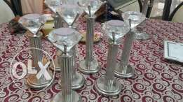 8 Crystal candel holder